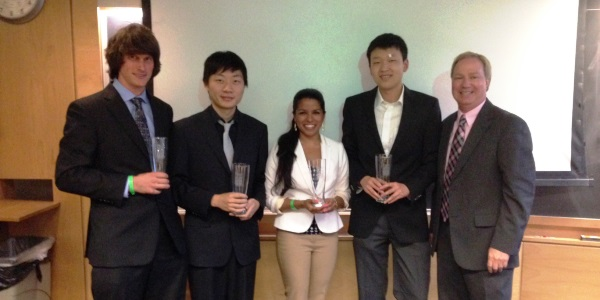 Winners of the MENG 570 Business Simulation